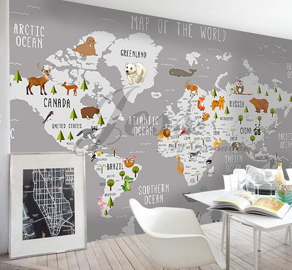 3D Nursery Kids Room Animal World Map Removable Wallpaper Peel Stick Wall Mural,Wall Decal,Children Toddler,Baby, Wall Sticker L9  The post 3D Nursery Kids Room Animal World Map Removable Wallpaper Peel Stick Wall Mural,Wall Decal,Children Toddler,Baby, Wall Sticker L9 appeared first on Woman Casual.