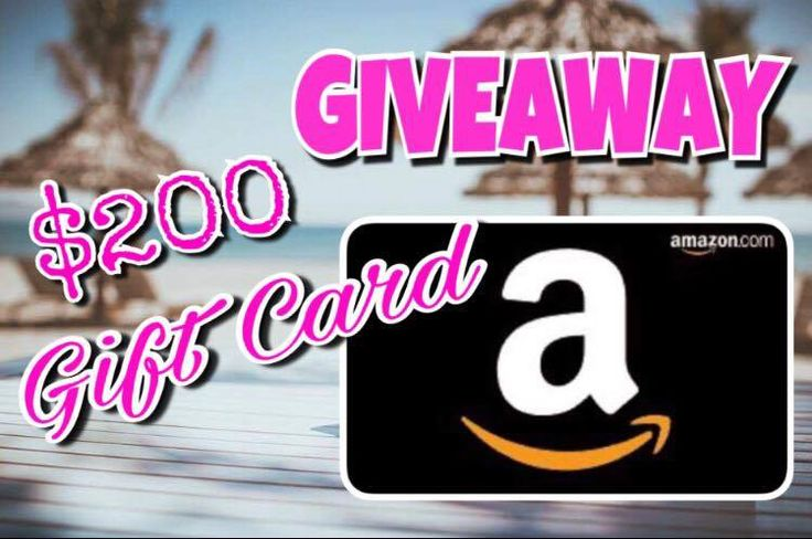 200 Gift Card Giveaway! Gift card giveaway, Cards, Gifts