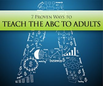 7 Proven Ways to Teach the ABC to Adults -           Repinned by Chesapeake College Adult Education Program. Learn and improve your English language with our FREE Classes. Call Karen Luceti  410-443-1163  or email kluceti@chesapeake.edu to register for classes.  Eastern Shore of Maryland.  . www.chesapeake.edu/esl.