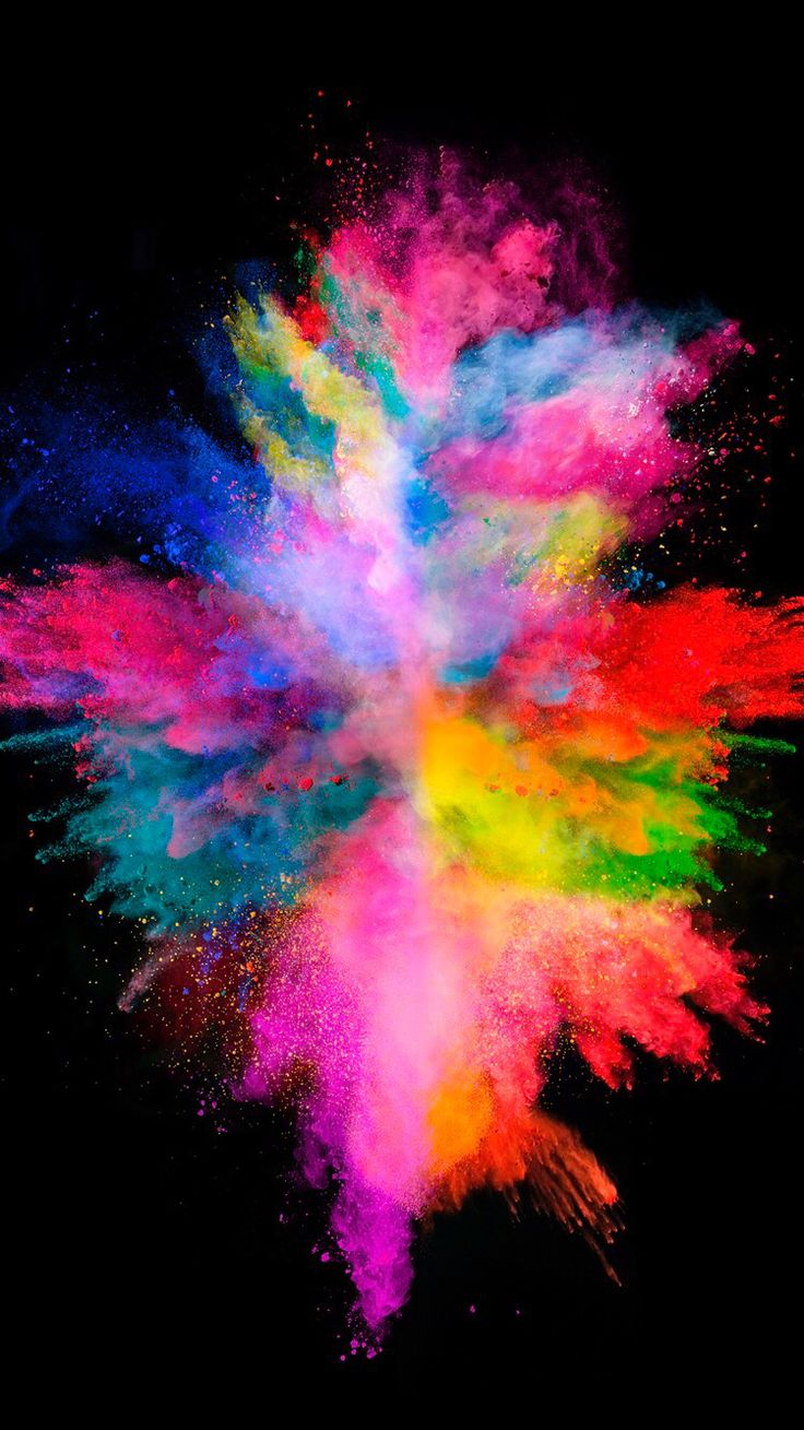 Colorful explosion on the black background for your iPhone