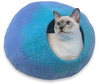 """Take a look through your holiday list and cross off all of the cat-lovers in one easy online shopping session. Get them each a Cat Cave,You can be sure you're giving a one-of-a-kind gift that will make the recipient feel like you really """"get"""" them.. Click here for the Cat Caves"""