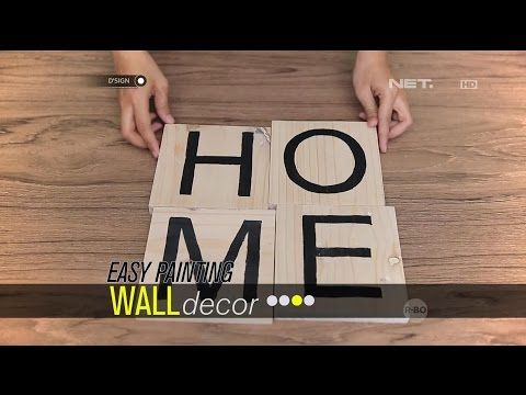 Easy Painting Wall Decor - dSIGN - YouTube