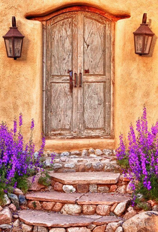 Que linda paleta de cores! Em Santa Fé, estado do Novo México, USA.  Fotografia: Gabriela.