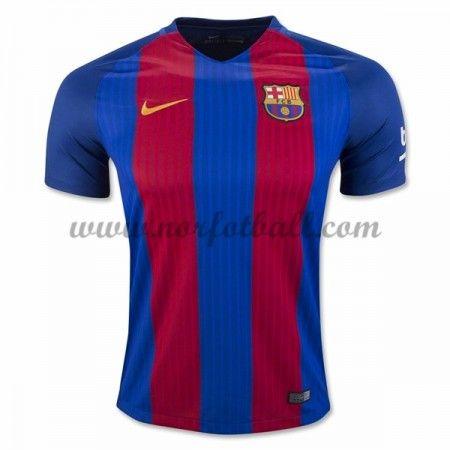 Billige Fotballdrakter Barcelona 2016-17 Hjemme Draktsett Kortermet
