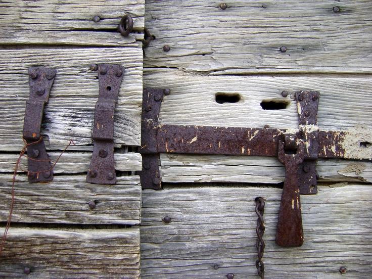 Wooden door in Castelluccio di Norcia, Umbria, Italy