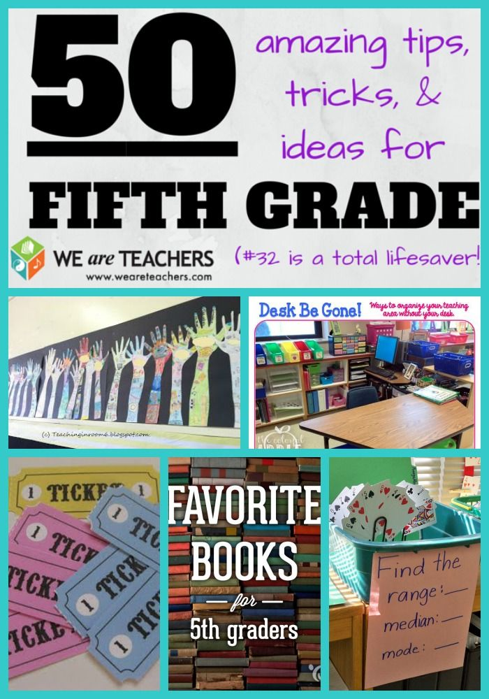 These ideas are fabulous! So many teacher ideas, all for fifth graders!