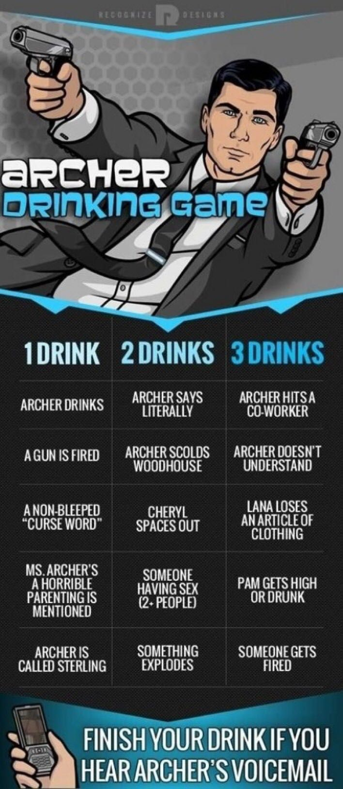 Archer Drinking Game New Season Starts Tonight! 3/31/16