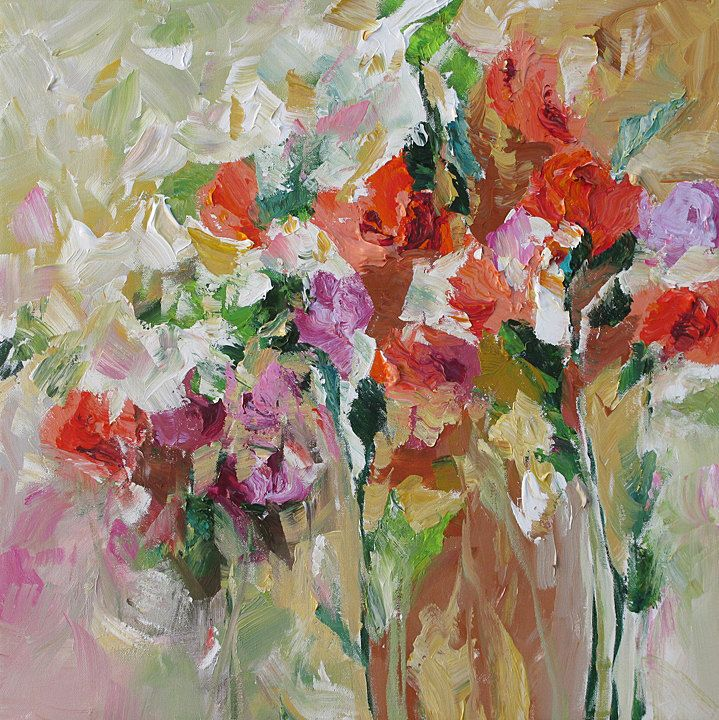 32 best images about art roses on pinterest rose for Floral acrylic paintings