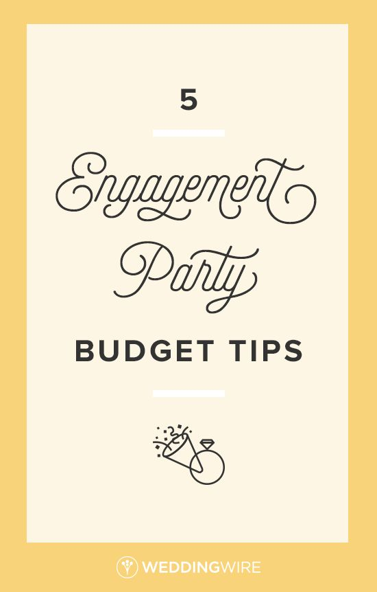5 Engagement Party Budget Tips - Throwing an engagement party? Find out how to not break the bank with these tips on @weddingwire!