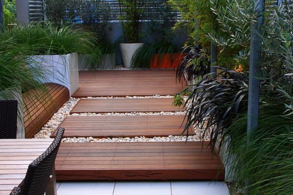 timber decks and seat