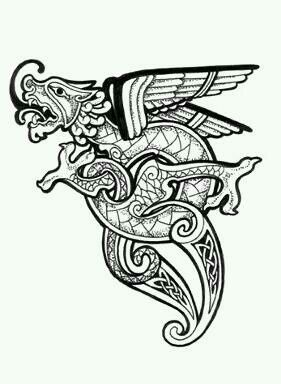 ancient celtic dragon google search tattoo polynesian pinterest celtic dragon dragons. Black Bedroom Furniture Sets. Home Design Ideas