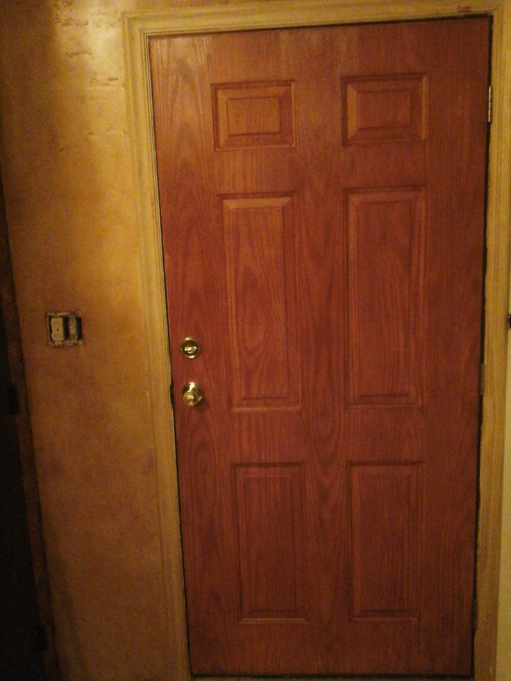 Front Door Used To Be White Steel With A Wood Grain