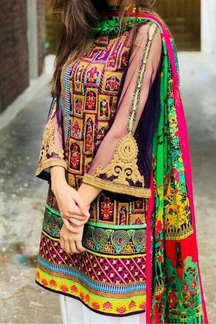 Nakoosh Nk 2030 Embroidered Two Piece Linen Collection In
