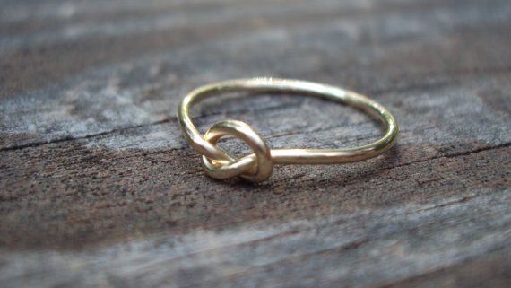 Dainty 14kt  gold filled love knot ring single knot by jayy2009, $13.99
