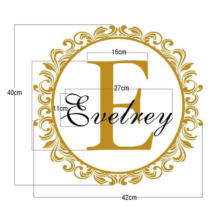 Shpping gratis grosir nama bayi nama kustom stiker dinding for Dekorasi kamar