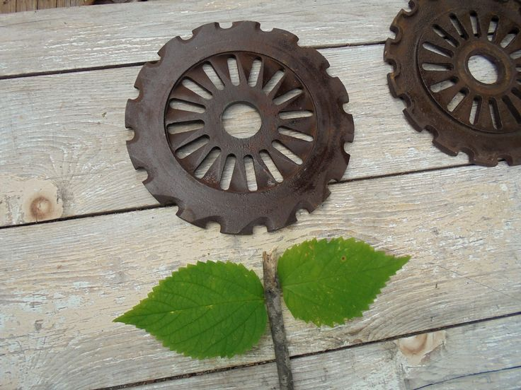 Vintage Rusty Planter Seed Plates, Agricultural Insustrial Steampunk, Metal Art Supply,Rusty Garden Yard Art, Salvage Farmhouse Rustic Decor by Imperfetions on Etsy