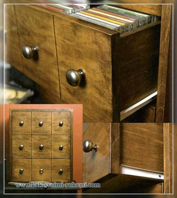 шкаф для dvd дисков - как сделать