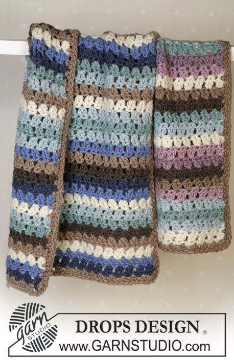 Garnstudio Free Crochet Patterns : BabyDROPS 14-21 Blanket By DROPS Design - Free Crochet ...