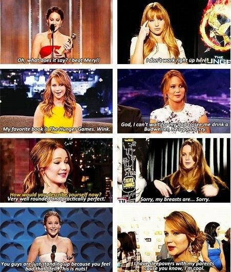 Once again, Jennifer Lawrence being fabulous.