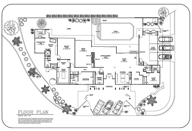 Real Estate 2d Floor Plan Drawing Architectural Drafting Service Floor Plans Site Development Plan Restaurant Plan