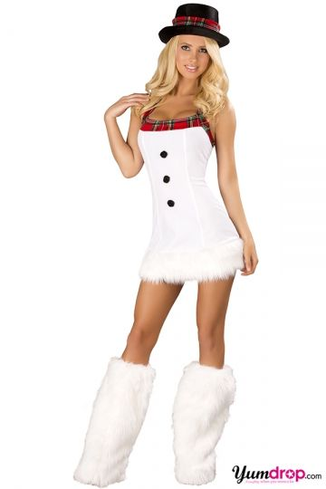 Sexy Snow Man Costume Snowman Christmas Costume