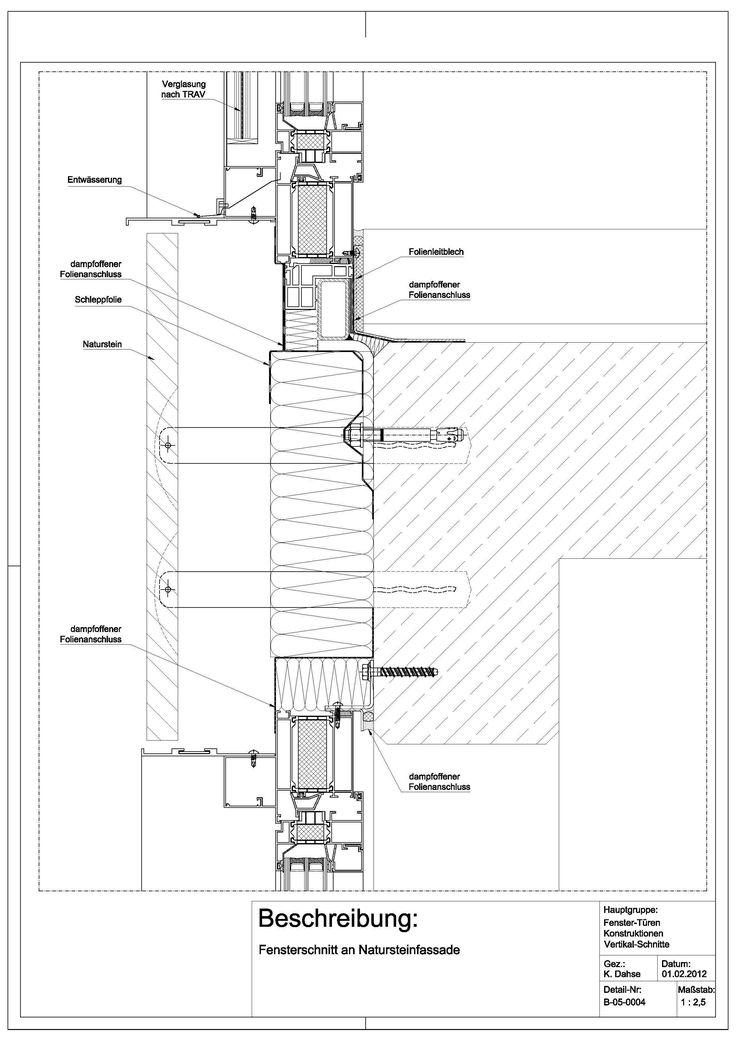 538 besten detail bilder auf pinterest architektur for Fenster detail schnitt