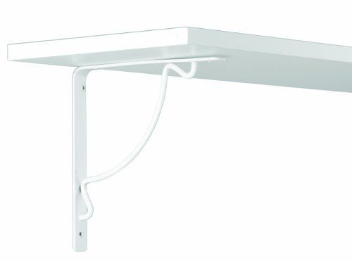 John Sterling RP-0094-8WT Florentine Shelf Bracket, 8-Inch, White by John Sterling. $6.99. Stylish Florentine design. Holds 100 lbs./pair when mounted into studs. Supports shelves 10 in. to 12 in. deep. Add a decorative touch to your home with these Florentine shelf brackets. This design incorporates curved wire pattern with a sturdy steel base. Add a decorative touch to your home with these Florentine shelf brackets. This design incorporates curved wire pattern with ...