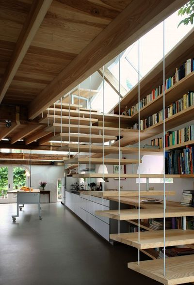 Hanging Wooden Staircases