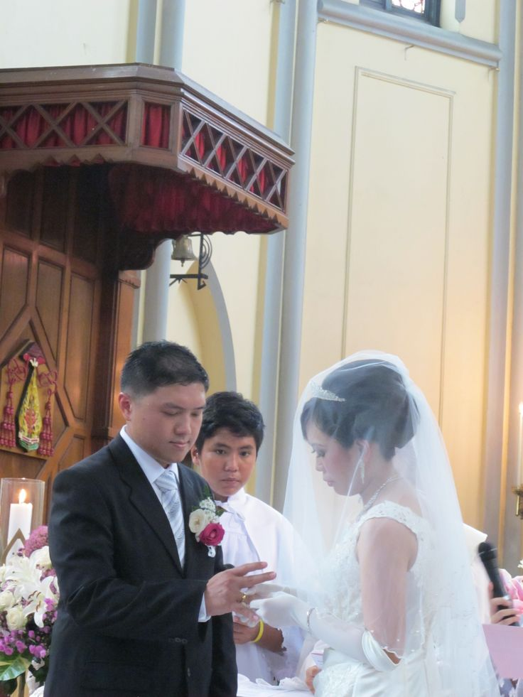 September 1st 2013, Cathedral Church, Central Jakarta, Indonesia. Vero and Harry
