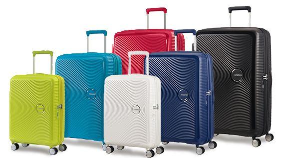Las maletas American Tourister Soundbox están fabricadas en Europa, son polipropileno 100% y con cremallera, poseen un estilo juvenil, moderno y divertido inspirado en los discos de vinilo.