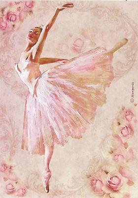Ricepaper / Decoupage paper, Scrapbooking Sheets Ballet Large