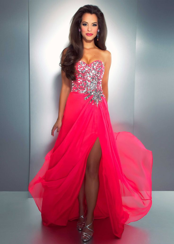 Pretty pink evening dresses