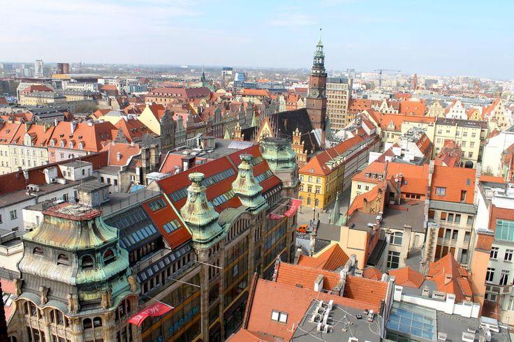 Widok z Mostku Pokutnic we Wrocławiu