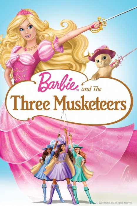 Barbie and the Three Musketeers Poster Artwork - Kelly Sheridan, Tim Curry, Kira Tozer - http://www.movie-poster-artwork-finder.com/barbie-and-the-three-musketeers-poster-artwork-kelly-sheridan-tim-curry-kira-tozer/