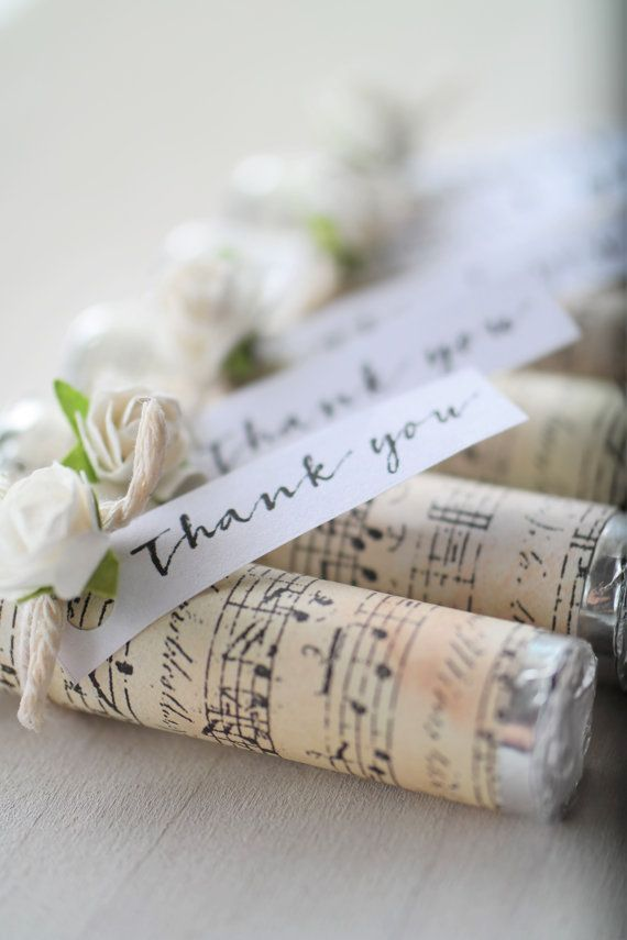Thank You Party Favors, Wedding Music Lover Party Favors, Music Party Favors