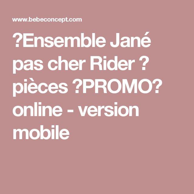 ➞Ensemble Jané pas cher Rider ③ pièces ◤PROMO◢ online - version mobile