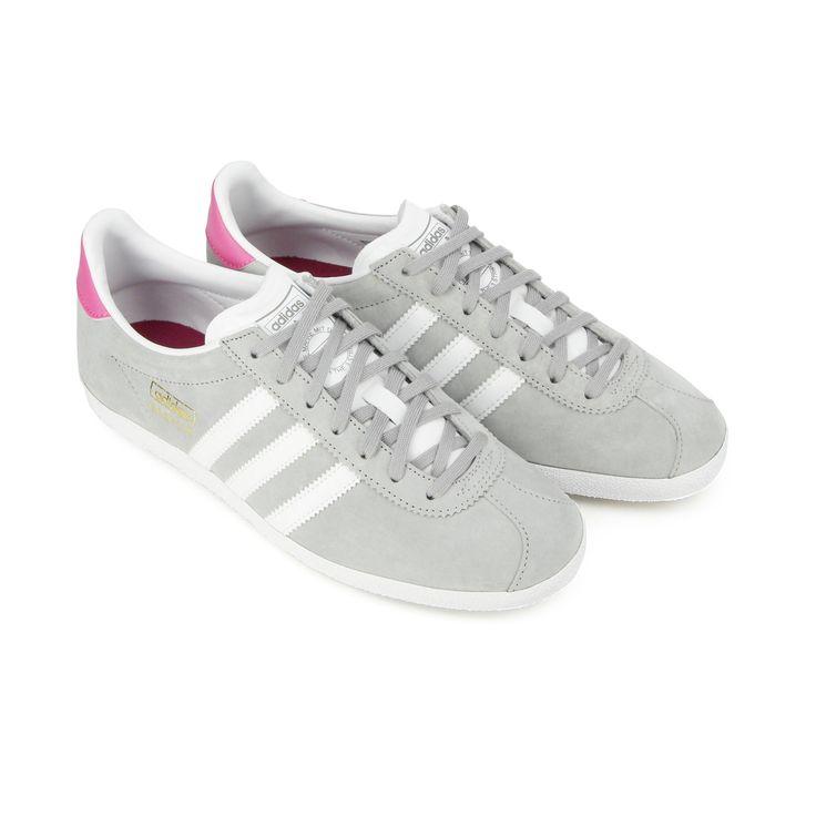 adidas gazelle femme gris et rose