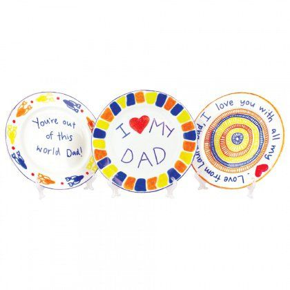 The perfect plate for Dad's toast!  Porcelain Father's Day Plates