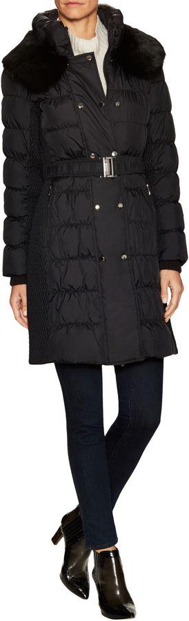 Via Spiga Women's Fur Trimmed Puffer Coat