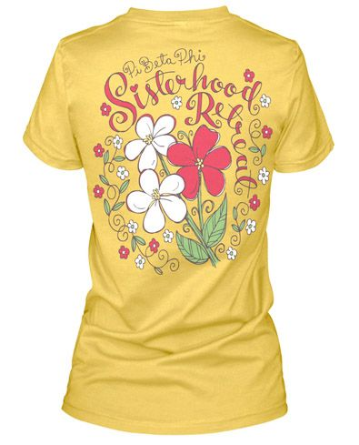 17 best images about graphic design on pinterest floral for Sorority t shirt design