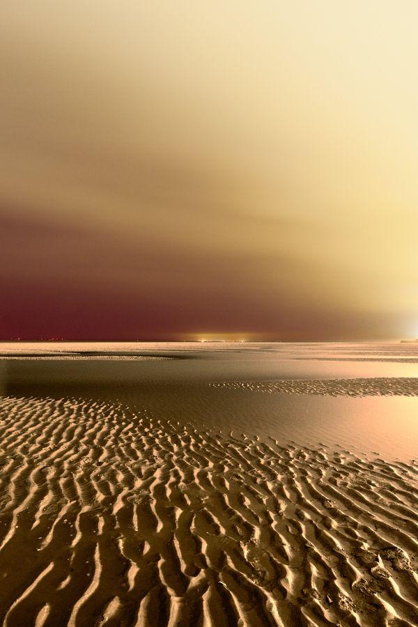 Night on Blackpool Beach , Lancashire, England - Ian Mylam