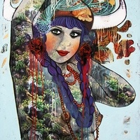 Sarah Hickey - Gallery - Horned Lace Idols - The Jungle Queen Awaits her Matador