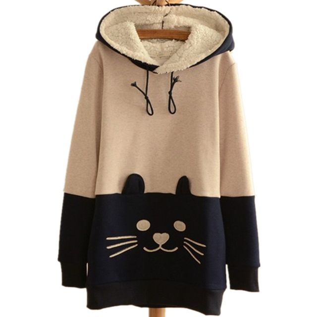 Cute Japanese Mori Kawaii Girl lolita Cat Face Tail Hoodies With Hat SweatShirts Hooded Hoodies woman Clothing one piece Vestido