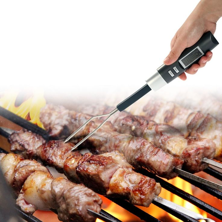 Digital LCD BBQ Meat Cooking Thermometer Fork Electronic - Tomtop.com