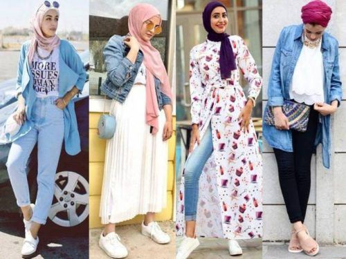 d3c8234cbe94 Spring hijab fashion 2018 – Just Trendy Girls