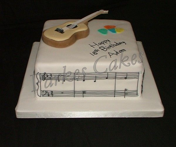 Great Birthday Cake For Guitarists