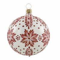 Christbaumkugeln Sternenzweige weiß-glänzend to Material: Glas Größe: 8 cm 20 €