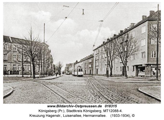 Königsberg, Kreuzung Hagenstr., Luisenallee, Hermannallee