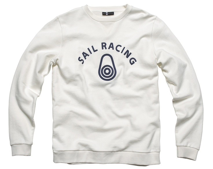 Sail racing ocean jacket off white