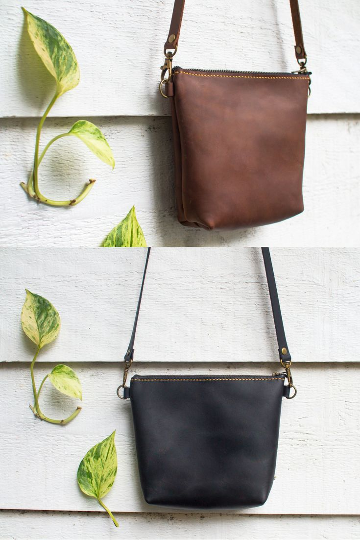Crossbody Leather Purse with Clutch Option